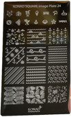 Konad Nail Art Square Image Plate #24: Sea, Patterns, Leaves