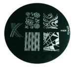 Image Plate #M64 by Konad Stamping Nail Art