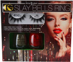 China Glaze 2 pc Slay Bells Ring Set (w/ 385 Black Ardell Lashes)