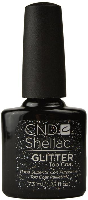 CND Shellac UV Glitter Top Coat (0.25 fl. oz. / 7.3 mL)