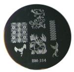 Bundle Monster Image Plate #BM-314: Full Nail, Flowers, Animals, Bird (Ships Free, No Min)