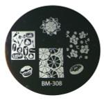 Bundle Monster Image Plate #BM-308: Full Nail, Food, Cupcake, Doughnut (Ships Free, No Min)