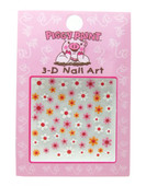 Piggy Paint for Kids Sparkly Flowers Nail Decals (3-D)