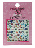 Piggy Paint for Kids Peace Sign Nail Decals (3-D)