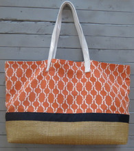 Orange and Navy Pool Bag