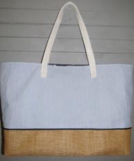 Blue Seersucker Pool Bag