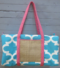 Aqua and Pink Duffle Bag