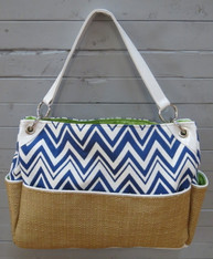 Blue Chevron Chic Diaper Bag