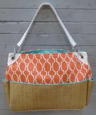 Orange and Blue Chic Diaper Bag
