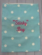 Aqua Polkadot Stinky Bag