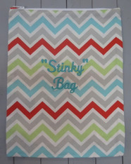 Multicolored Chevron Stinky Bag