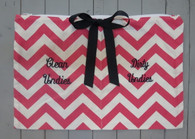Pink Chevron Clean and Dirty Bag