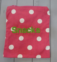 Pink Polkadot Snack Bag