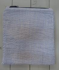 Blue Seersucker Snack Bag