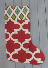 Red and Green Diamond Stocking