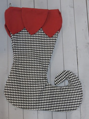 Elf Stocking - Houndstooth