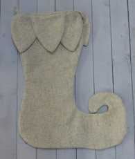Elf Stocking - Burlap