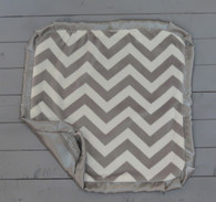 Grey Chevron Thumb Blanket