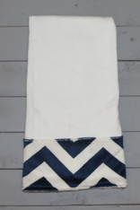 Navy Chevron Burp Cloth