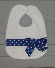 Royal Blue Polkadot Bib