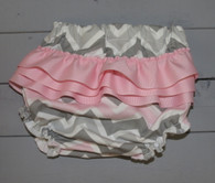 Pink and Grey Chevron Bloomer