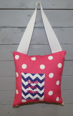 Pink Polkadot Tooth Fairy Pillow