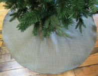 Green Check Large Tree Skirt