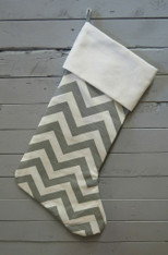 Grey Chevron Stocking