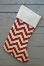 Red Chevron Stocking