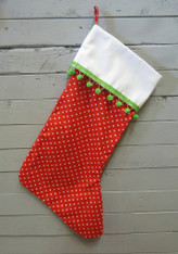 Little Red Dot Stocking