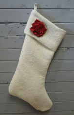 Cream Rose Stocking