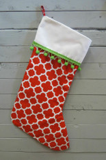 Red Quatrefoil Stocking