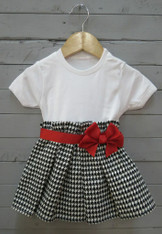 Houndstooth Bow Dress