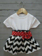 Black and Red Bow Dress