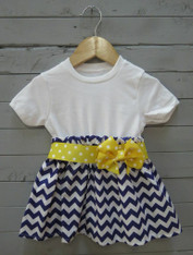 Purple and Yellow Bow Dress
