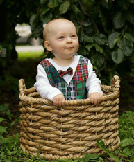 Long Sleeve Bowtie and Vest Onesie