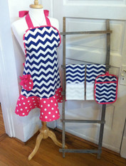 Navy Chevron Apron