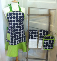 Navy and Green Apron