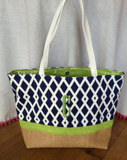 Blue Diamond Beach Bag