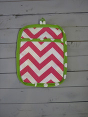 Pink and Green Pot Holder