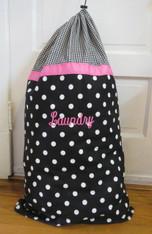 Black and White Laundry Bag