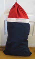 Boys Red and Navy Laundry Bag