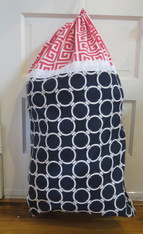 Navy and Pink Laundry Bag