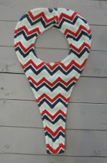 Red and Blue Chevron Binky Holder