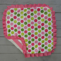 Pink and Green Dot Thumb Blanket