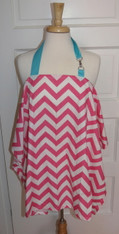 Pink Chevron Nursing Cover