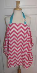 Pink Chevron Nursing Cover