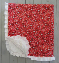 Red Paisley Blanket