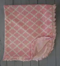 Pink Quatrefoil Minky Blanket