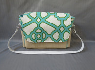 Teal Geometric Large Diaper Bag
